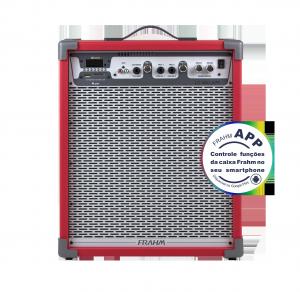 Caixa Amplificada Multiuso Frahm - LC 450 APP Vermelha