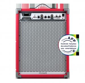 Caixa Amplificada Multiuso Frahm - LC 650 APP Vermelha