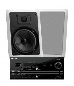 Kit Residence AR Frahm - Amplificador RD 80 160W Residence + 2 Arandelas Retangulares 6