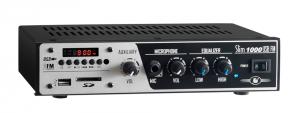 Amplificador - Receiver para som ambiente Frahm - Slim 1000 USB/FM
