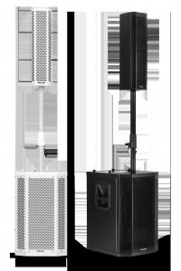 Sistema PA Passivo 500W Frahm - GRT12 Preto e Branco