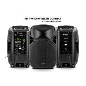 Kit PW 400 Wireless Caixa Ativa + Caixa Passiva 800W RMS